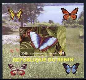 Benin 2009 Butterflies #2 individual imperf deluxe sheet unmounted mint. Note this item is privately produced and is offered purely on its thematic appeal