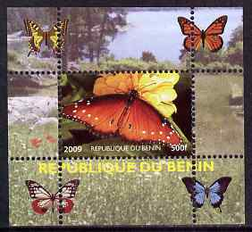 Benin 2009 Butterflies #3 individual perf deluxe sheet unmounted mint. Note this item is privately produced and is offered purely on its thematic appeal