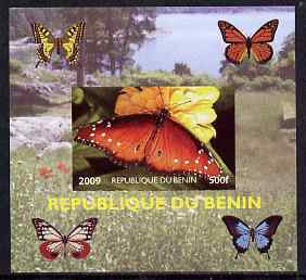 Benin 2009 Butterflies #3 individual imperf deluxe sheet unmounted mint. Note this item is privately produced and is offered purely on its thematic appeal