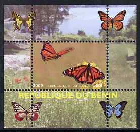 Benin 2009 Butterflies #4 individual perf deluxe sheet unmounted mint. Note this item is privately produced and is offered purely on its thematic appeal
