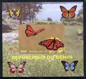 Benin 2009 Butterflies #4 individual imperf deluxe sheet unmounted mint. Note this item is privately produced and is offered purely on its thematic appeal