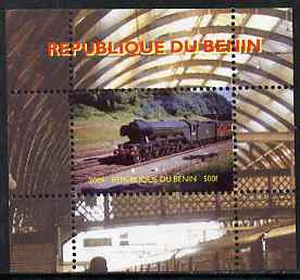 Benin 2009 Steam Locomotives #1 individual perf deluxe sheet unmounted mint. Note this item is privately produced and is offered purely on its thematic appeal