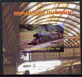 Benin 2009 Steam Locomotives #1 individual imperf deluxe sheet unmounted mint. Note this item is privately produced and is offered purely on its thematic appeal