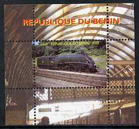 Benin 2009 Steam Locomotives #31 individual perf deluxe sheet unmounted mint. Note this item is privately produced and is offered purely on its thematic appeal