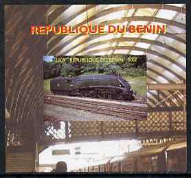 Benin 2009 Steam Locomotives #3 individual imperf deluxe sheet unmounted mint. Note this item is privately produced and is offered purely on its thematic appeal
