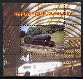 Benin 2009 Steam Locomotives #4 individual perf deluxe sheet unmounted mint. Note this item is privately produced and is offered purely on its thematic appeal