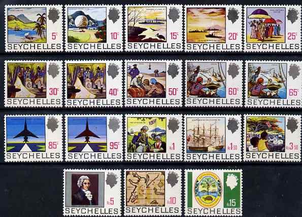 Seychelles 1969-75 definitive set complete 18v unmounted mint, SG 262-79