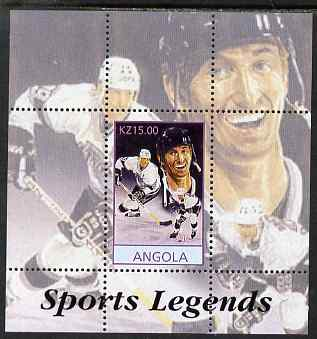 Angola 2000 Sports Legends - Wayne Gretzky (Ice Hockey) perf deluxe souvenir sheet unmounted mint
