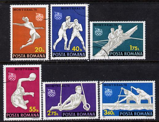 Rumania 1976 Montreal Olympic Games cto set of 6, Mi 3350-55, SG 4224-29*
