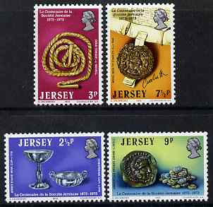 Jersey 1973 Centenary of La Societe Jersiaise perf set of 4 unmounted mint, SG 86-88
