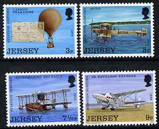 Jersey 1973 Jersey Aviation History perf set of 4 unmounted mint, SG 89-92