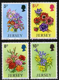 Jersey 1974 Spring Flowers perf set of 4 unmounted mint, SG 103-06