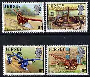Jersey 1975 Nineteenth-Century Farming perf set of 4 unmounted mint, SG 119-22