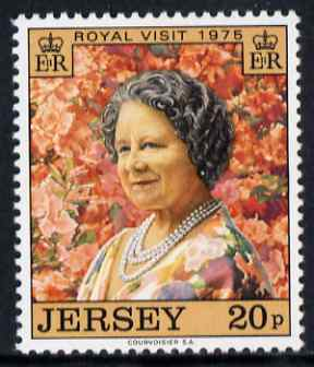 Jersey 1975 Royal Visit, Queen Mother (photograph by Cecil Beaton) unmounted mint, SG 123