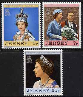 Jersey 1977 Silver Jubilee perf set of 3 unmounted mint, SG 168-70