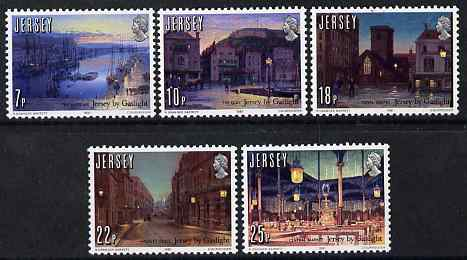 Jersey 1981 150th Anniversary of Gas Lighting in Jersey perf set of 5 unmounted mint, SG 279-83