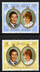 Jersey 1981 Royal Wedding perf set of 2 unmounted mint, SG 284-85