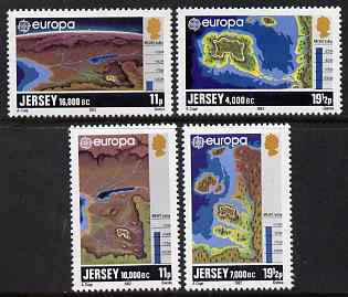 Jersey 1981 Europa (History) Formation of Jersey perf set of 4 unmounted mint, SG 289-92