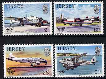 Jersey 1984 40th Anniversary of International Civil Aviation Organization perf set of 4 unmounted mint, SG 340-43