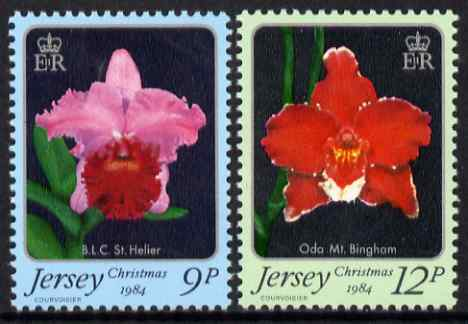 Jersey 1984 Christmas - Jersey Orchids perf set of 2 unmounted mint, SG 350-51
