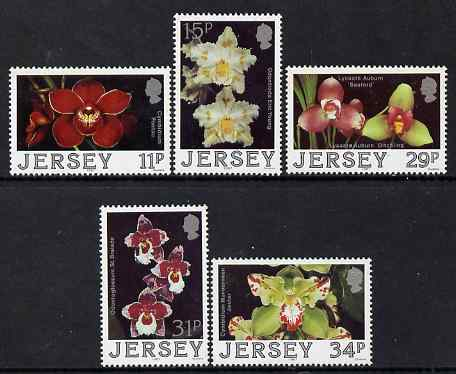 Jersey 1988 Jersey Orchids (2nd series) perf set of 5 unmounted mint, SG 433-37