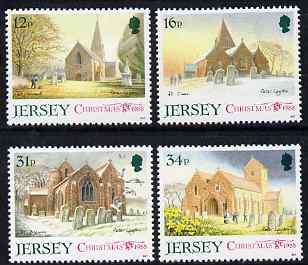Jersey 1988 Christmas - Jersey Parish Churches (1st series) perf set of 4 unmounted mint, SG 458-61