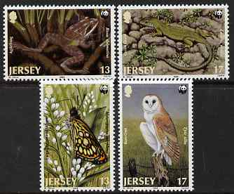 Jersey 1989 WWF - Endangered Jersey Fauna perf set of 4 unmounted mint, SG 492-95