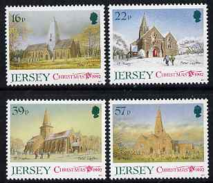 Jersey 1992 Christmas - Jersey Parish Churches (3rd series) perf set of 4 unmounted mint, SG 597-600