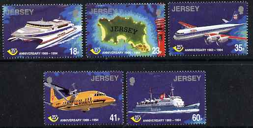 Jersey 1994 25th Anniversary of Jersey Postal Administration perf set of 5 unmounted mint, SG 674-78