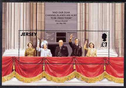 Jersey 1995 50th Anniversary of Liberation m/sheet unmounted mint, SG MS706, stamps on royalty, stamps on churchill, stamps on  ww2 , stamps on