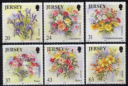 Jersey 1998 Flowers perf set of 6 unmounted mint, SG 874-79