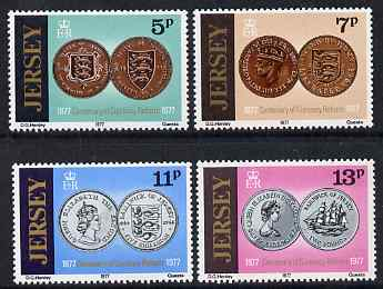 Jersey 1977 Centenary of Currency Reform set of 4 unmounted mint, SG 171-74
