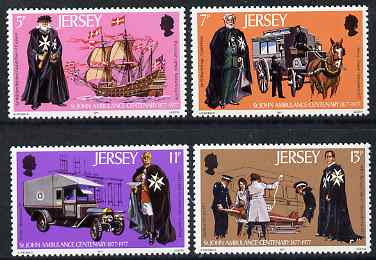 Jersey 1977 Centenary St John Ambulance set of 4 unmounted mint, SG 175-78