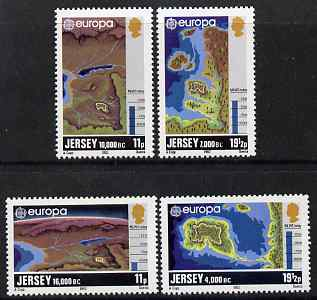 Jersey 1982 Europa - Formation of Jersey set of 4 unmounted mint, SG 289-92