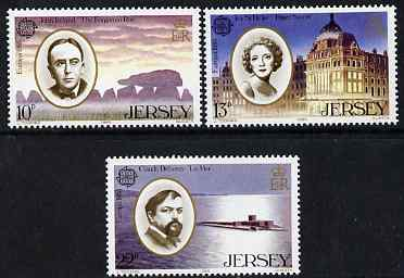 Jersey 1985 Europa - Music Year set of 3 unmounted mint, SG 357-59, stamps on music, stamps on