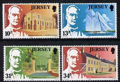 Jersey 1985 Thomas Davis (philanthropist) set of 4 unmounted mint, SG 376-79