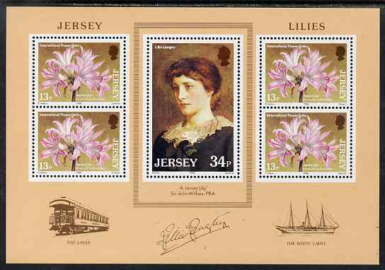 Jersey 1986 Jersey Lilies m/sheet unmounted mint, SG MS382