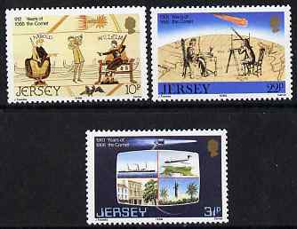Jersey 1986 Appearance of Halley's Comet set of 3 unmounted mint, SG 383-85