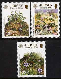 Jersey 1986 Europa - Environment Conservation set of 3 unmounted mint, SG 386-88