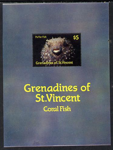 St Vincent - Grenadines 1987 Marine Life m/sheet (Puffer Fish) unmounted mint SG MS 546