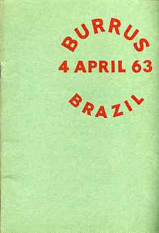Auction Catalogue - Brazil - Robson Lowe 4 Apr 1963 - the Burrus coll - cat only