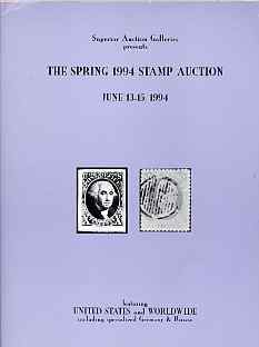 Auction Catalogue - United States - Superior 13-15 June 1994 - Worldwide - cat only