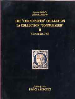 Auction Catalogue - France & Colonies - Superior 3 Nov 1993 - The Connoisseur coll - cat only