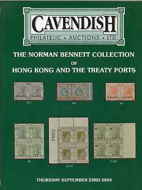 Auction Catalogue - Hong Kong & Treaty Ports - Cavendish 23 Sept 2004 - The Norman Bennett coll - cat only