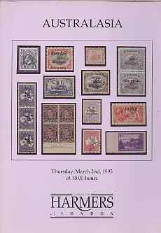 Auction Catalogue - Australasia - Harmers 2 Mar 1995 - incl the D D Kennedy coll - cat only