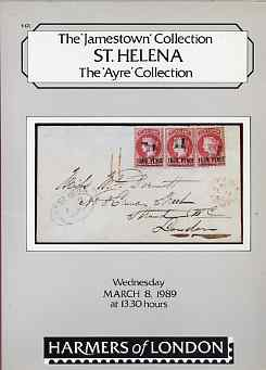 Auction Catalogue - St Helena - Harmers 8 Mar 1989 - the Jamestown & Ayre collections - with prices realised