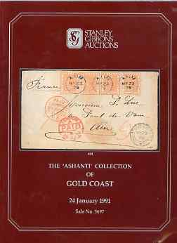 Auction Catalogue - Gold Coast - Stanley Gibbons 21 Jan 1991 - the Ashanti coll - cat only