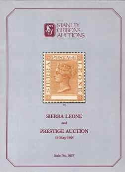 Auction Catalogue - Sierra Leone - Stanley Gibbons 19 May 1988 - plus Prestige auction - with prices realised