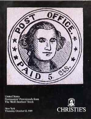 Auction Catalogue - United States Postmasters