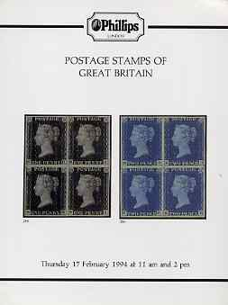 Auction Catalogue - Great Britain - Phillips 17 Feb 1994 - with prices realised